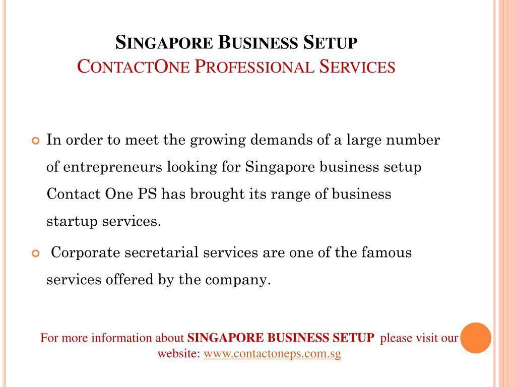 singapore business setup contactone professional services l.