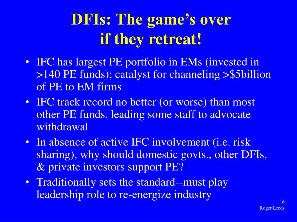 DFIs: The game's over