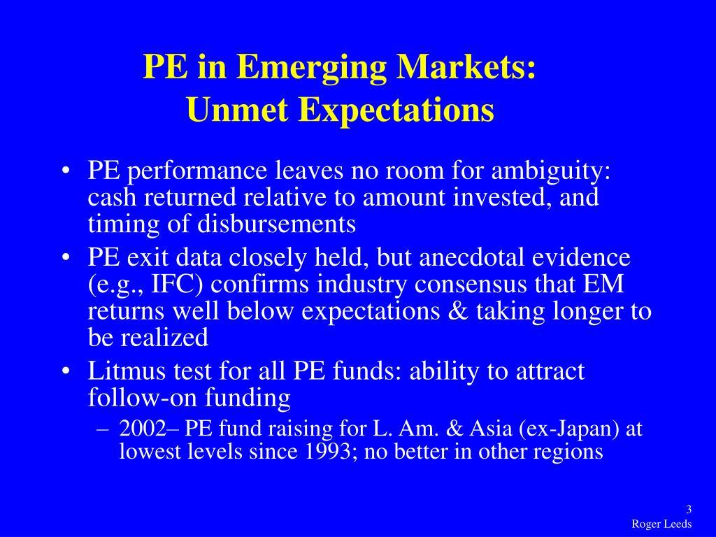 PE in Emerging Markets: