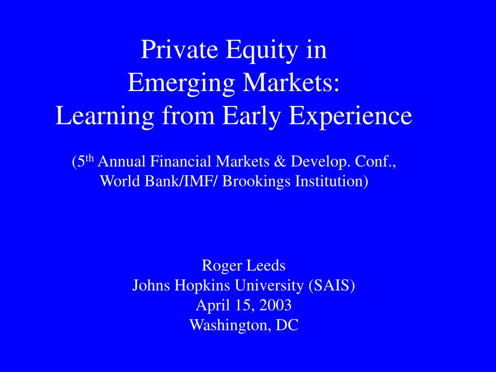 Private Equity in