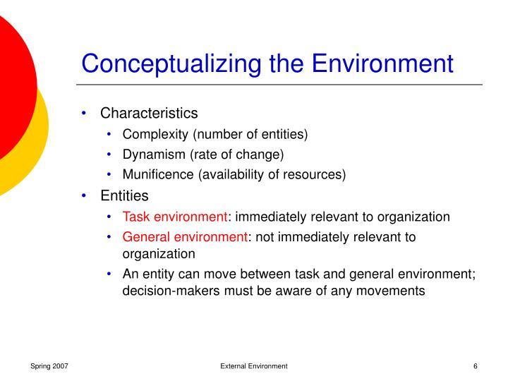 relationship between task environment and general environment