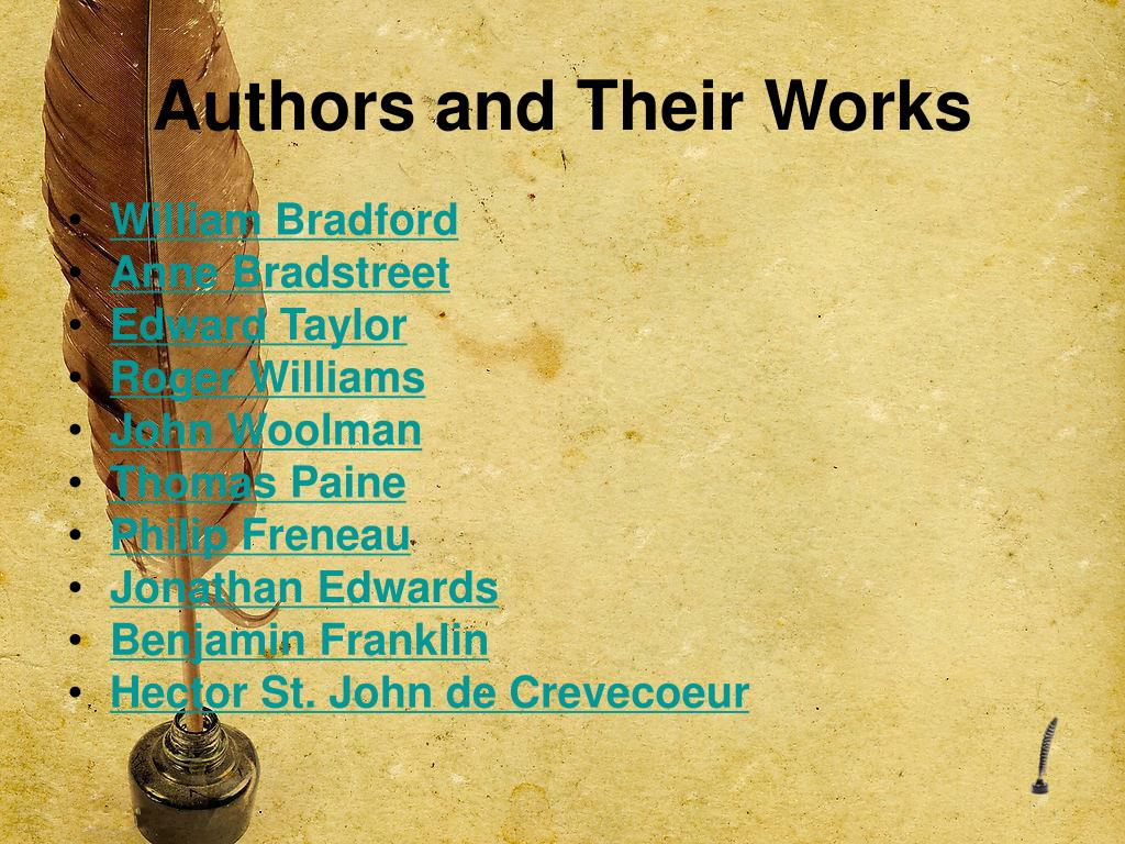 Authors and Their Works