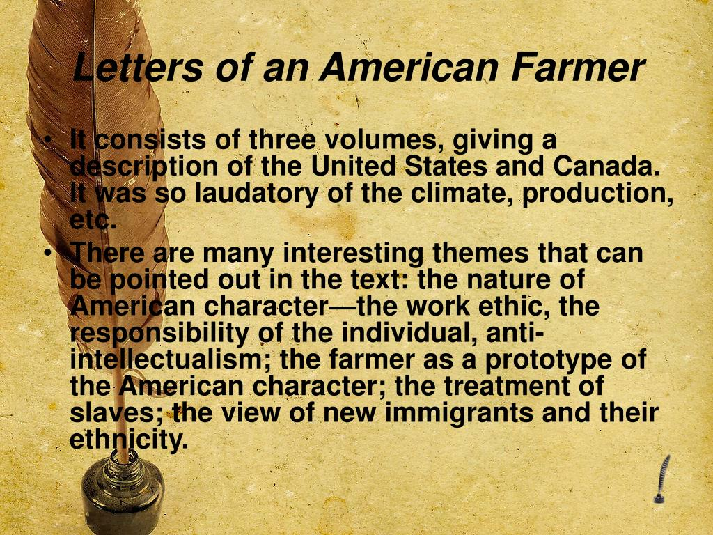 Letters of an American Farmer