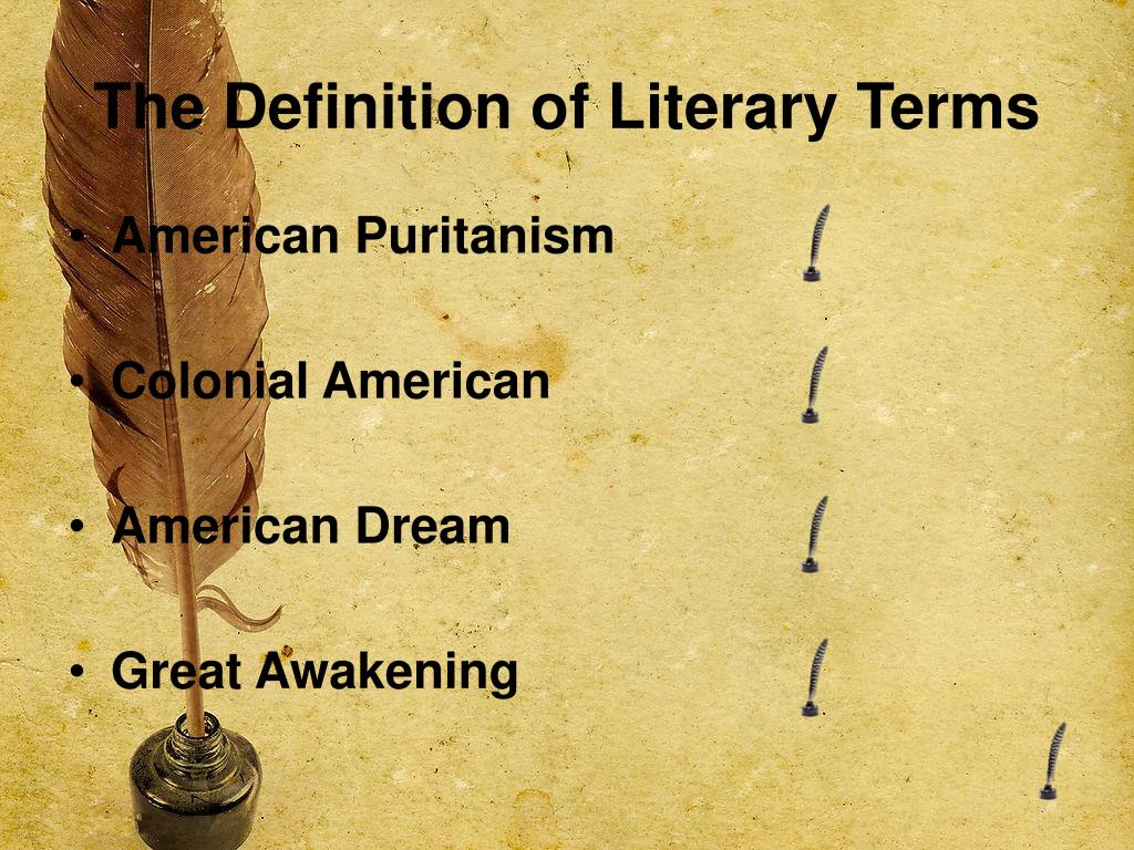 The Definition of Literary Terms