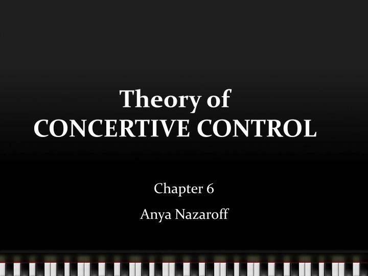 theory of concertive control n.