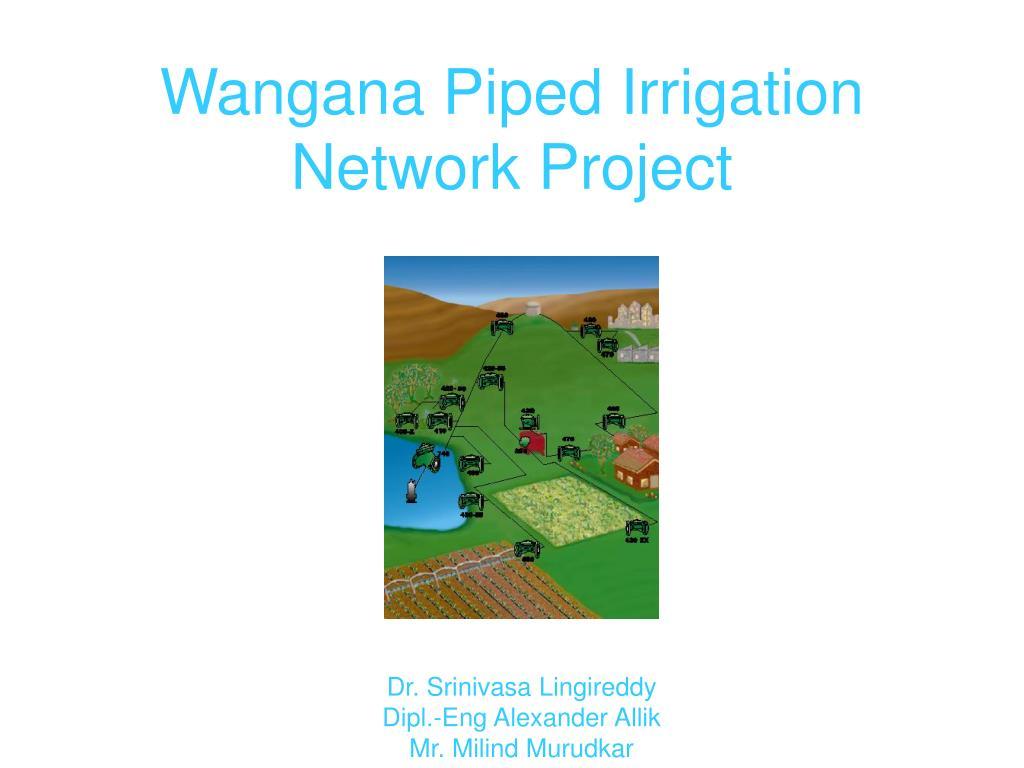 wangana piped irrigation network project l.