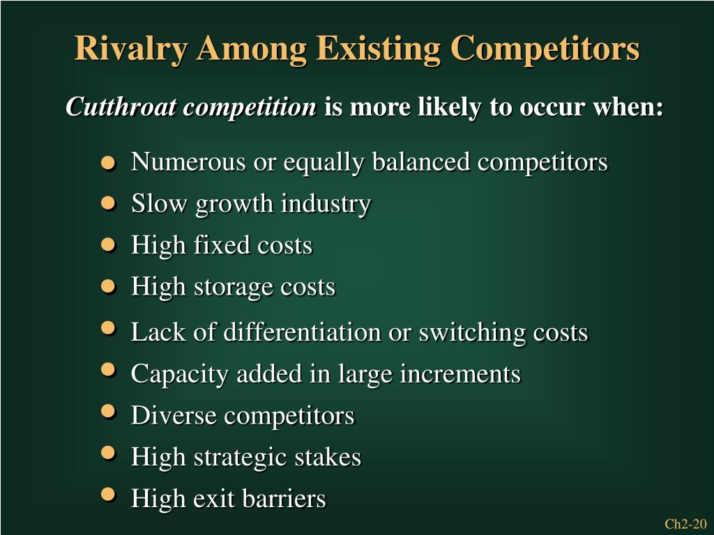 Numerous or equally balanced competitors