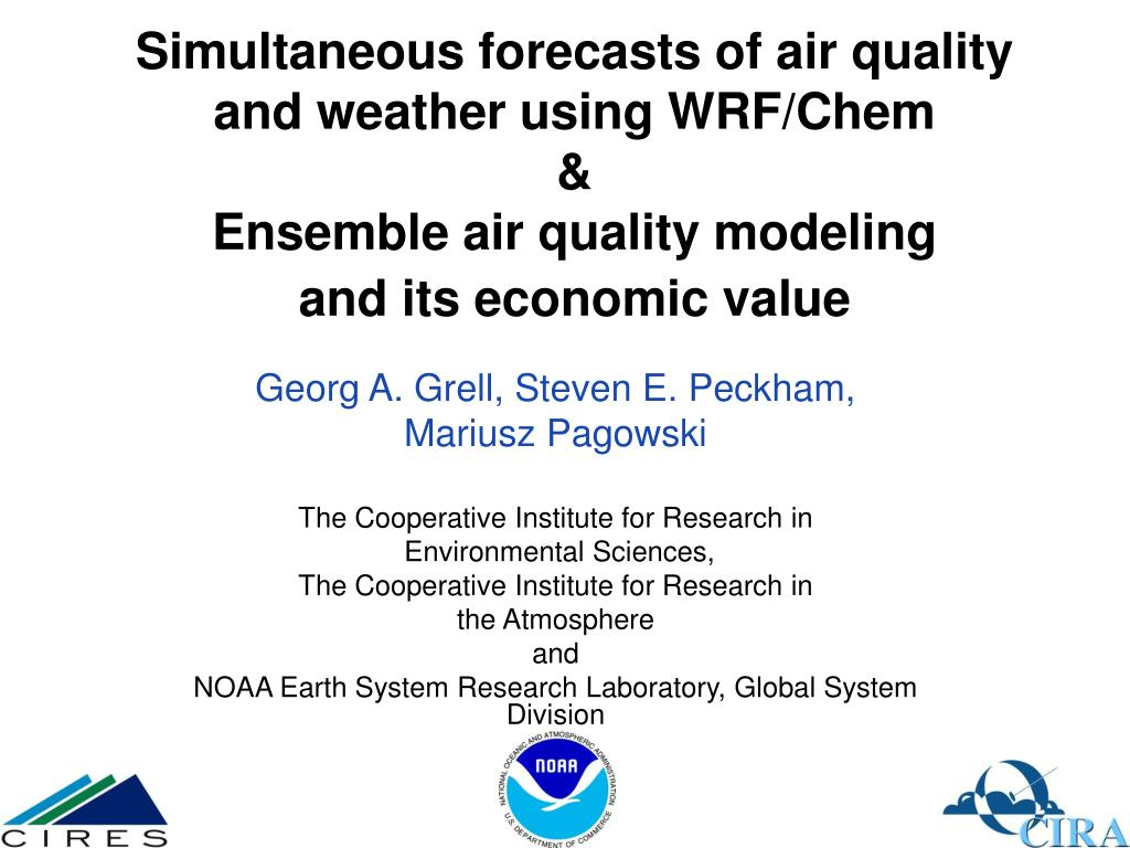 Simultaneous forecasts of air quality and weather using WRF/Chem