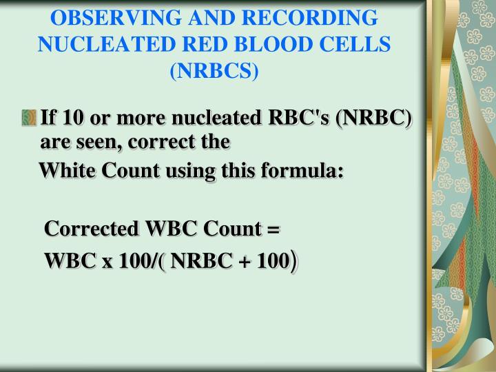 manual wbc count using smear