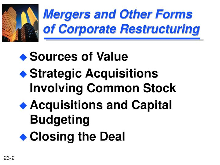 net present value mergers and acquisitions essay But before mergers & acquisitions (m&a) activity speeds up, it has to actually pass through a long chain of procedures (both legal and financial), which at times delays the deal with the liberalization of the indian economy in 1991, restrictions on mergers and acquisitions have been lowered.