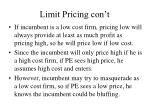 limit pricing con t41