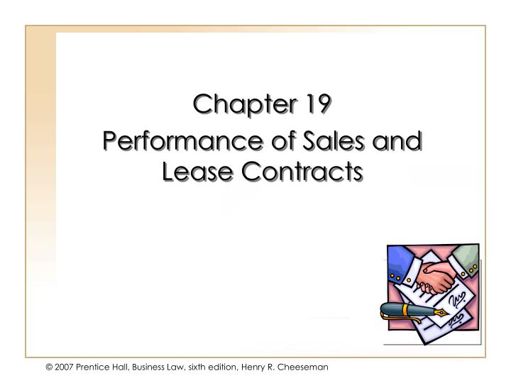 chapter 19 performance of sales and lease contracts n.