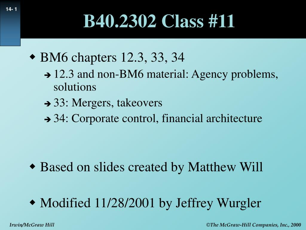 PPT - B40 2302 Class #11 PowerPoint Presentation - ID:306540