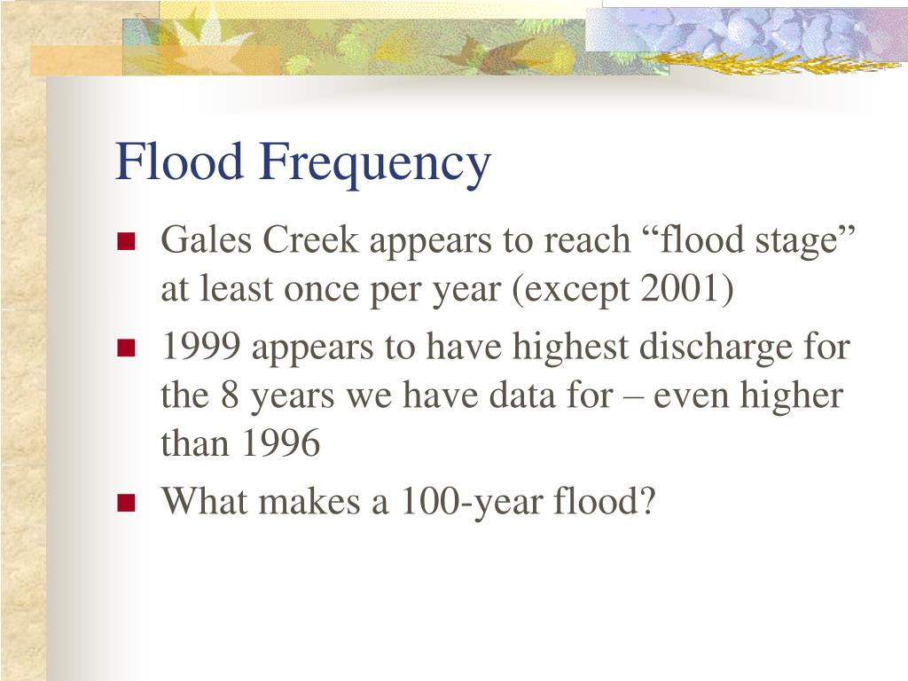 Flood Frequency