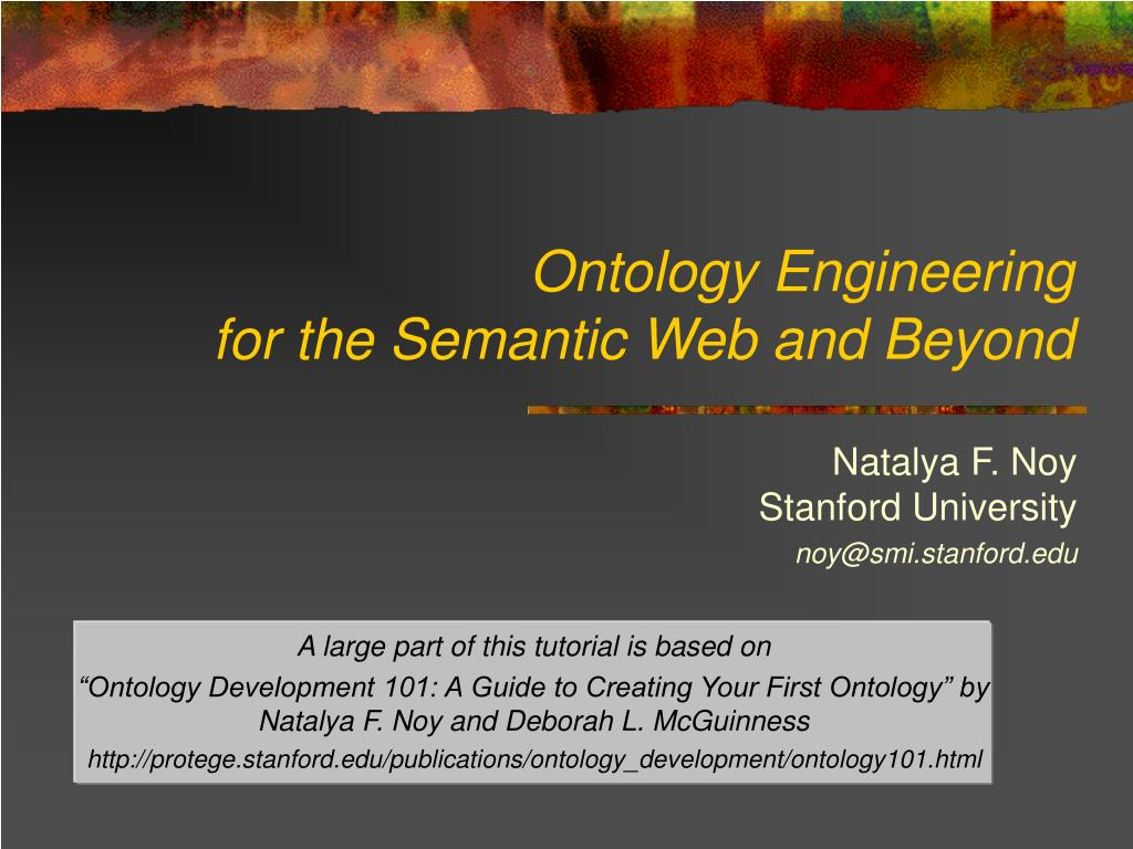 ontology engineering for the semantic web and beyond l.
