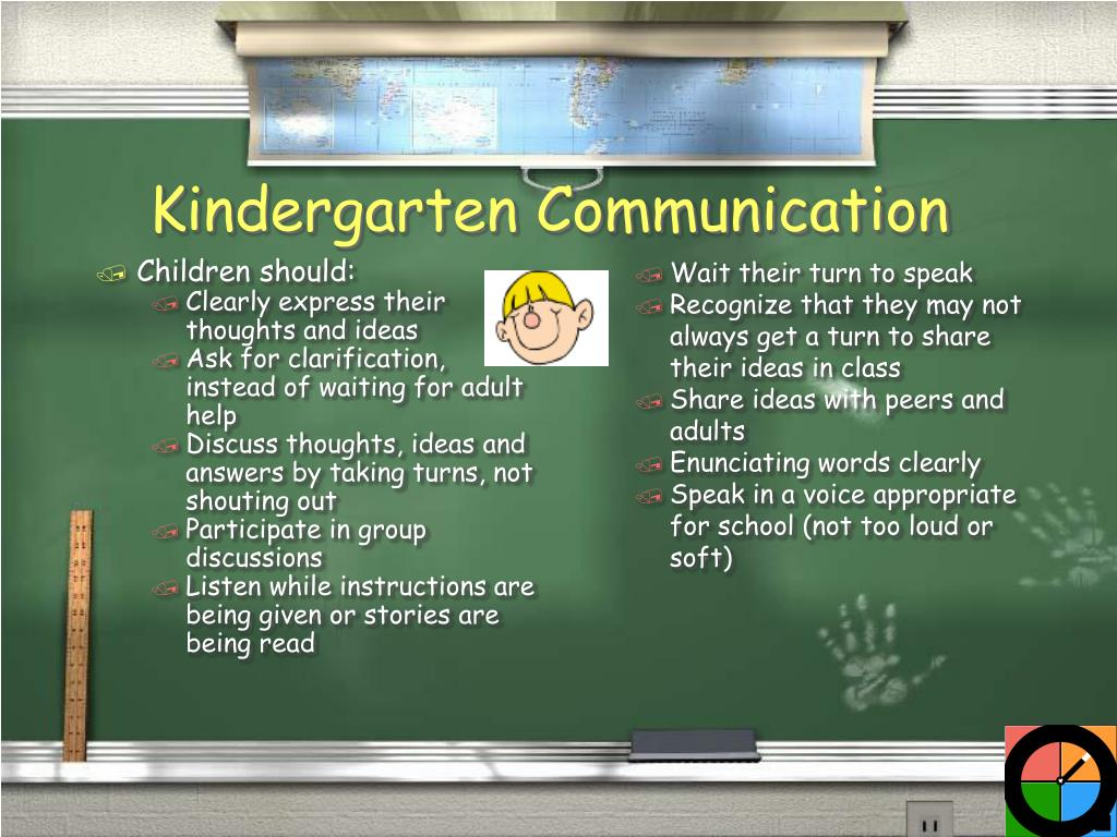 Children should: