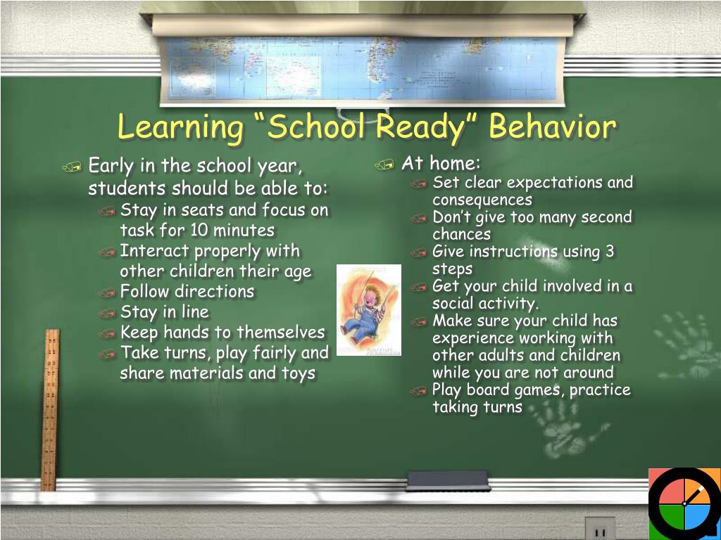 Early in the school year, students should be able to: