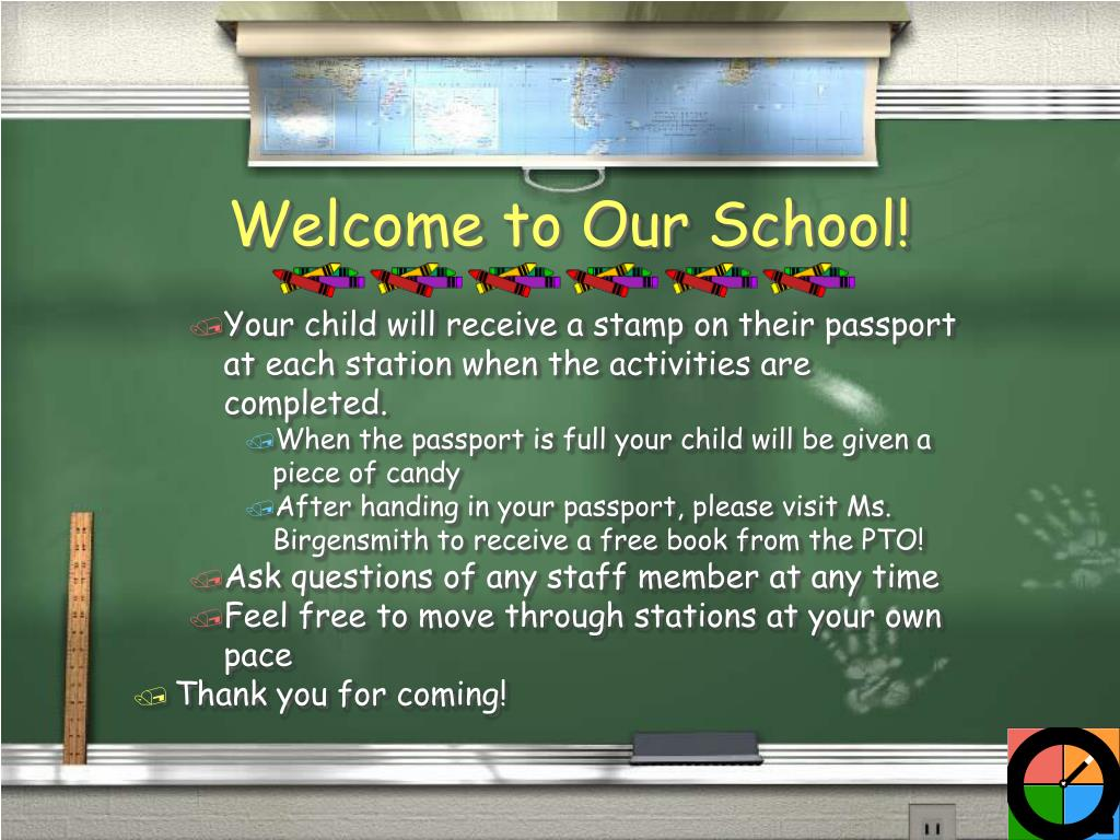Your child will receive a stamp on their passport at each station when the activities are completed.