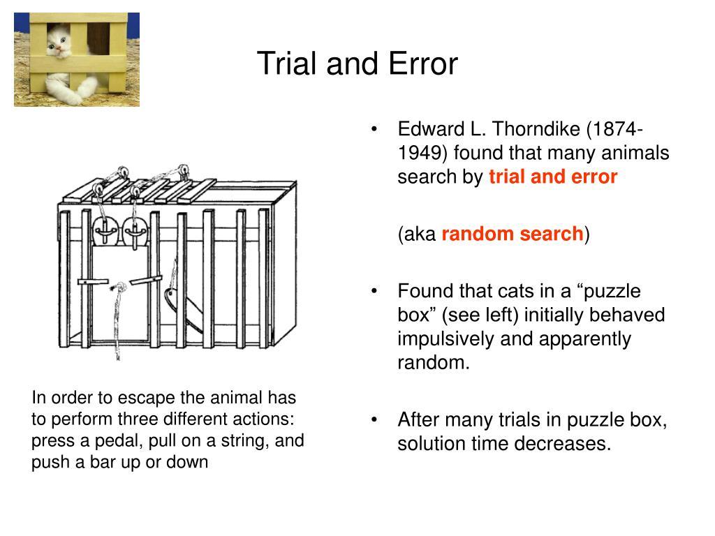 Edward L. Thorndike (1874-1949) found that many animals search by