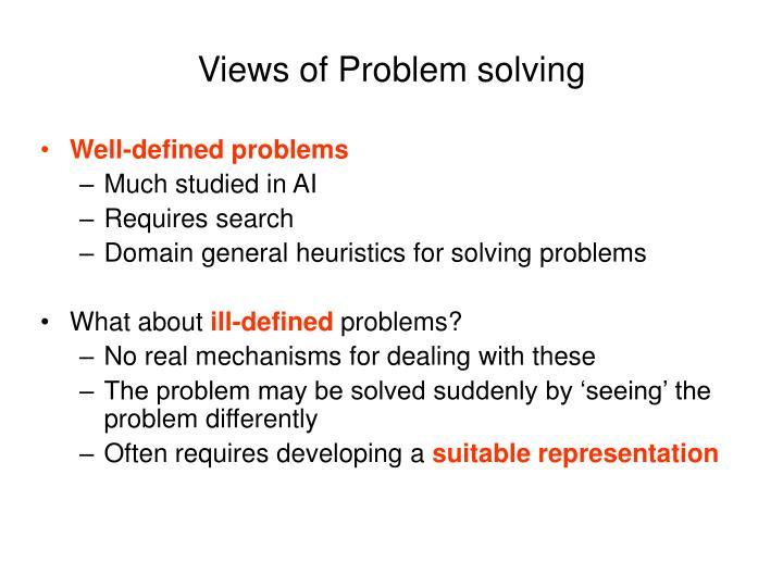 Views of problem solving