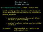 episodic memory retrieval processes12