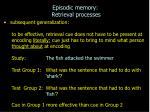 episodic memory retrieval processes5