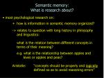 semantic memory what is research about