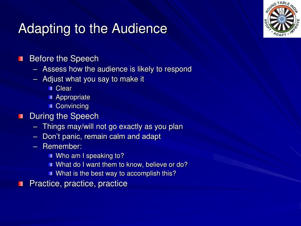 Adapting to the Audience