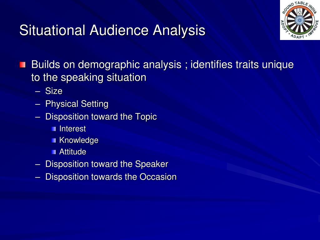 Situational Audience Analysis