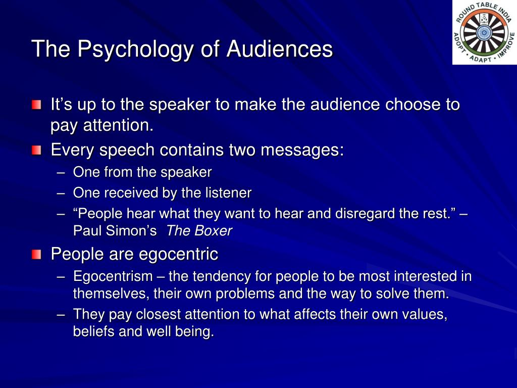The Psychology of Audiences