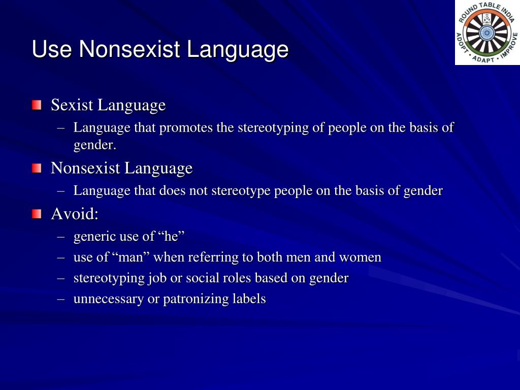 Use Nonsexist Language