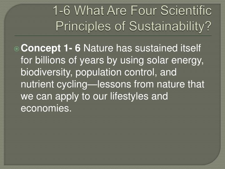 1-6 What Are Four Scientific Principles of Sustainability?