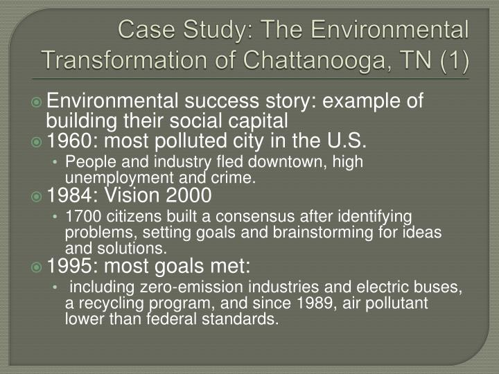Case Study: The Environmental Transformation of Chattanooga,