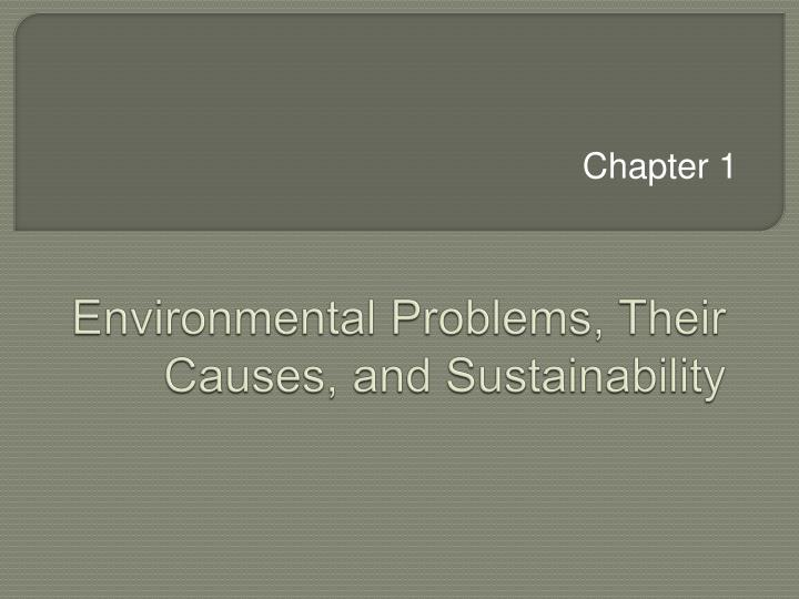 Environmental problems their causes and sustainability
