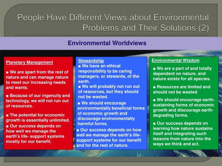 Environmental Worldviews