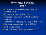 why new funding 1967