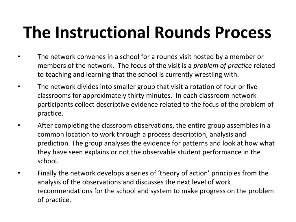 The Instructional Rounds Process