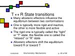 t r state transitions