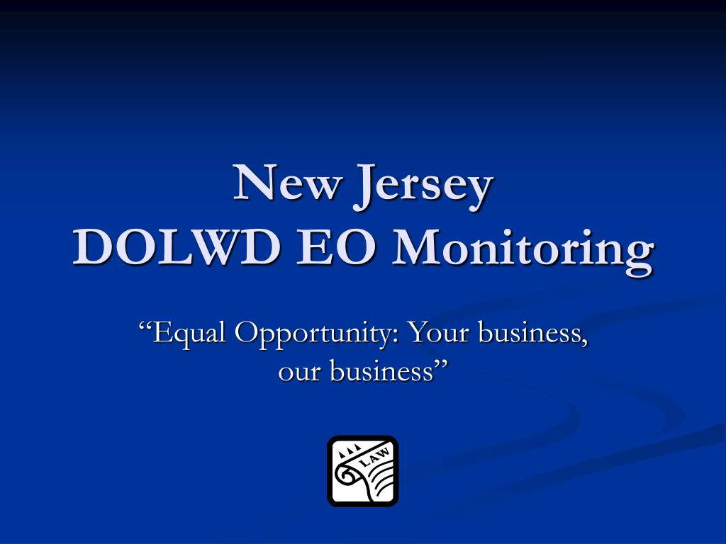 new jersey dolwd eo monitoring l.