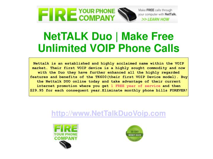 NetTALK Duo | Make Free Unlimited VOIP Phone Calls
