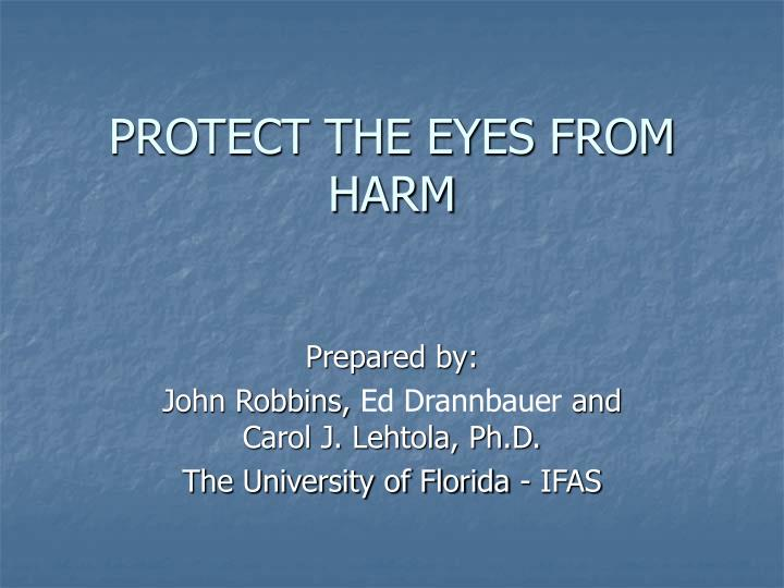 protect the eyes from harm n.