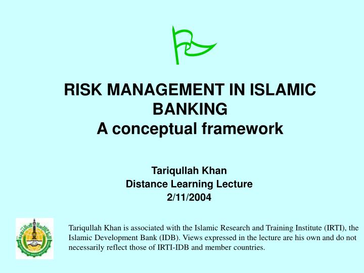 risk management in islamic banking a conceptual framework n.