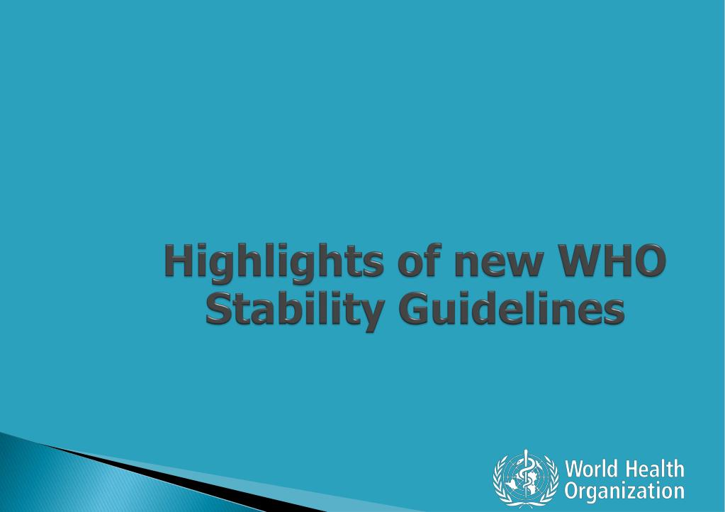 Ppt Regulatory Requirements On Medicine Stability Guidelines