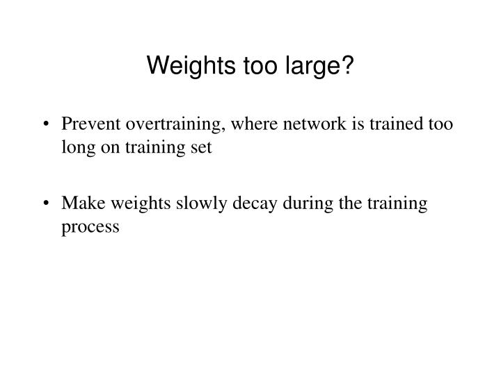 Weights too large?