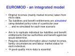 euromod an integrated model
