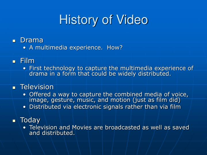 History of video