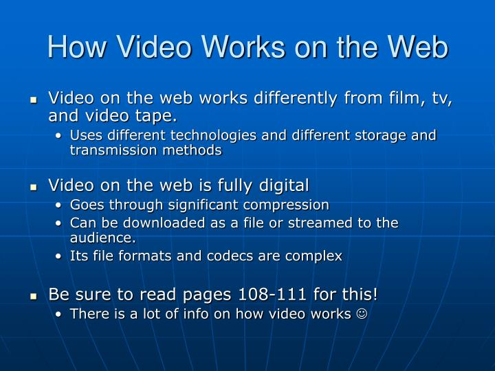 How Video Works on the Web