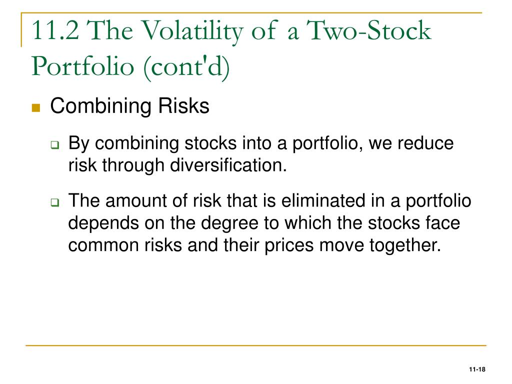 11.2 The Volatility of a Two-Stock