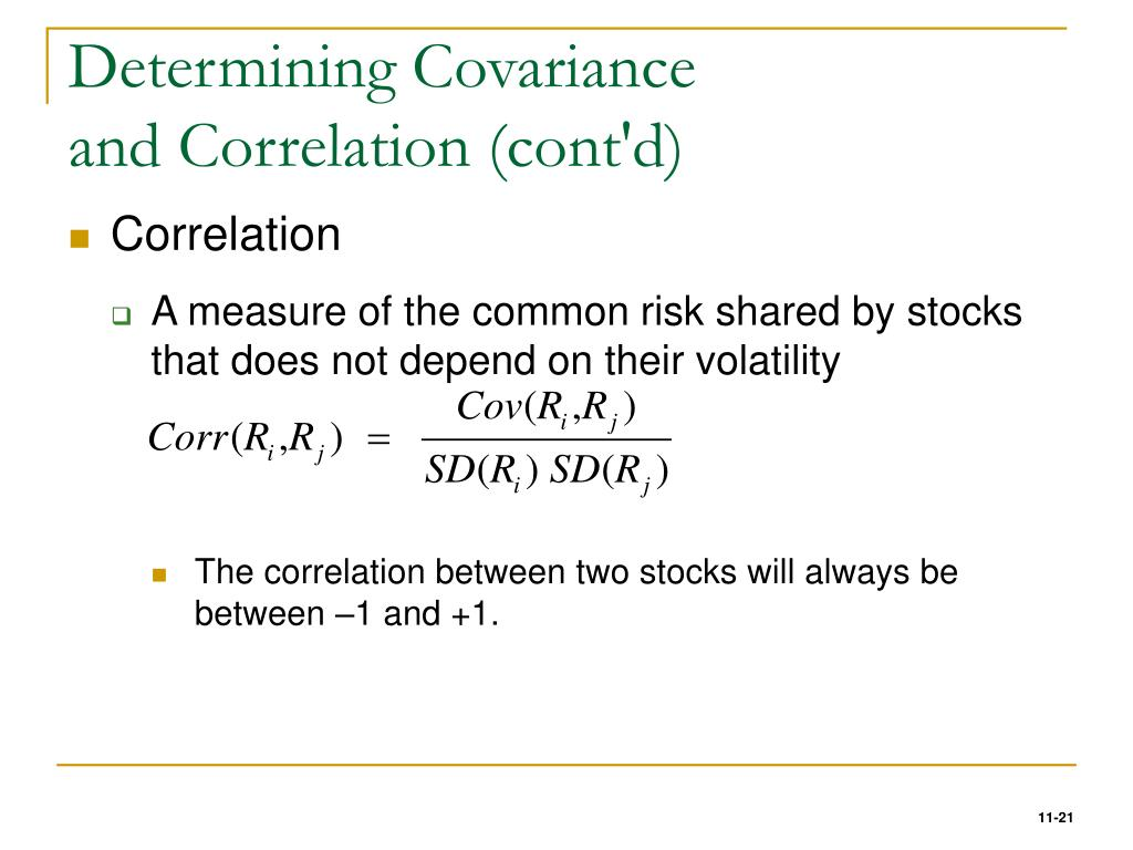 Determining Covariance
