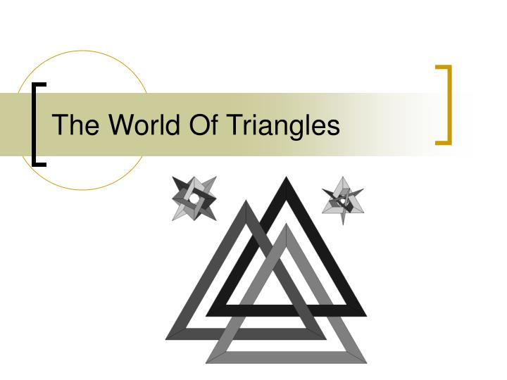 the world of triangles n.